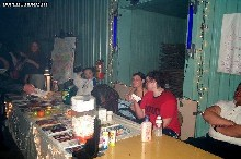 The PartySmart booth at '2001: A Bass Odyssey,' 12/31/2000