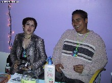The PartySmart booth at 'AfroDisiac,' 2/17/2001