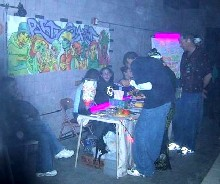 The PartySmart booth at 'Demotekracy,' 2/23/2001
