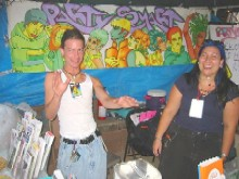 The PartySmart booth at 'EMFC 2003,' 9/6/2003