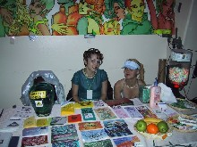 The PartySmart booth at 'Future Flow: Cosmic Kidz 4 Year Anniversary,' 4/27/2001