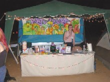 The PartySmart booth at 'Junebug 2003,' 6/7/2003