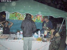 The PartySmart booth at 'Ragga Saga,' 6/30/2001