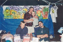 The PartySmart booth at 'Strictly Junggle III,' 7/7/2001
